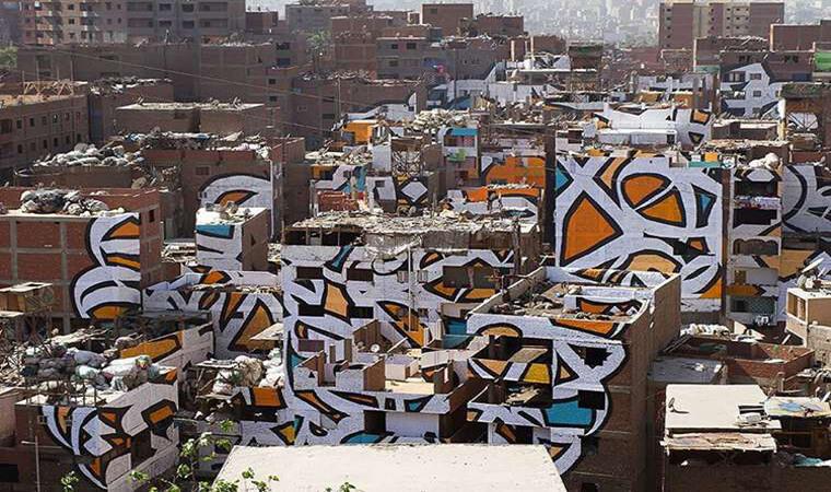 Artista francés realiza asombroso trabajo en el Cairo1