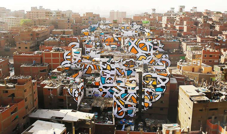Artista francés realiza asombroso trabajo en el Cairo11