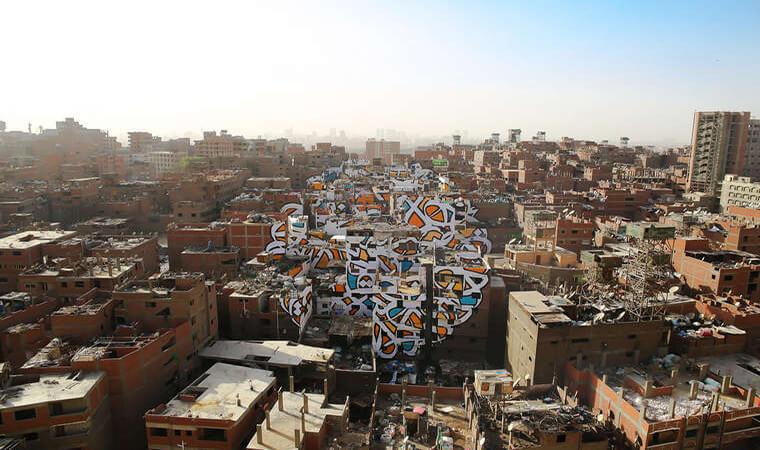 Artista francés realiza asombroso trabajo en el Cairo12