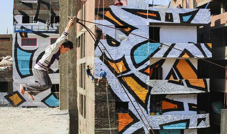 Artista francés realiza asombroso trabajo en el Cairo2