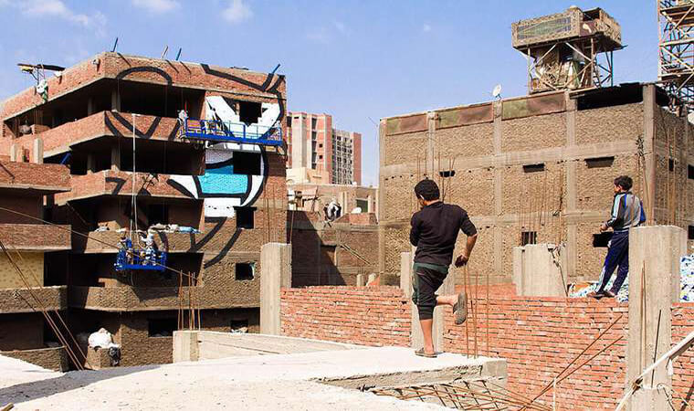 Artista francés realiza asombroso trabajo en el Cairo8