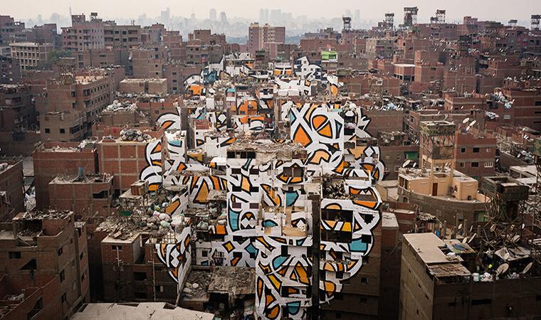 Artista francés realiza asombroso trabajo en el Cairop