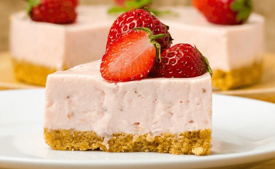 Cheesecake de fresa postre mejores del mundo