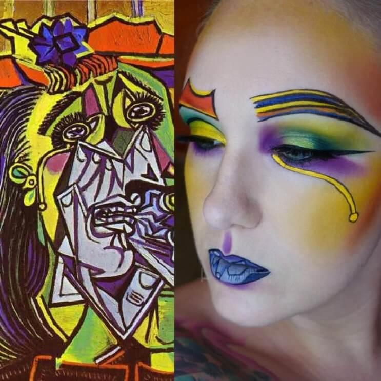 Esta-artista-recrea-obras-de-arte-usando-su-rostro-como-lienzo-03-1