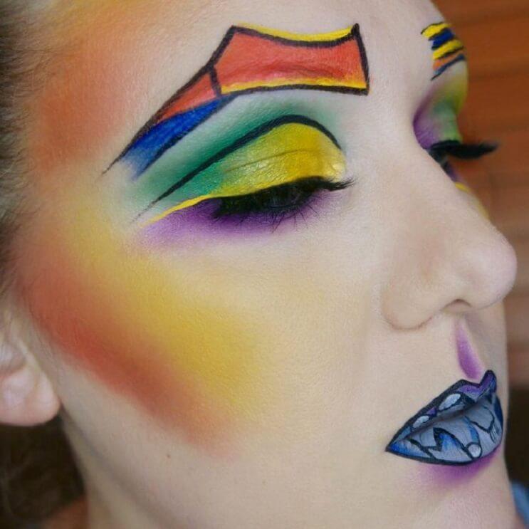 Esta-artista-recrea-obras-de-arte-usando-su-rostro-como-lienzo-04-1