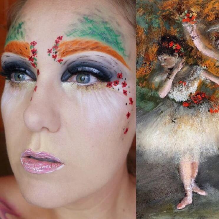 Esta-artista-recrea-obras-de-arte-usando-su-rostro-como-lienzo-07-1