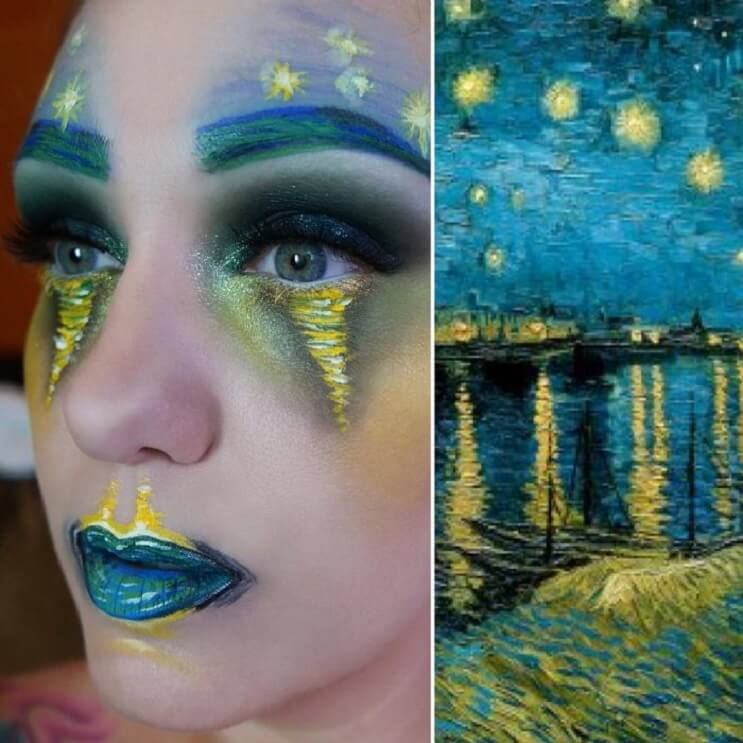 Esta-artista-recrea-obras-de-arte-usando-su-rostro-como-lienzo-09-1