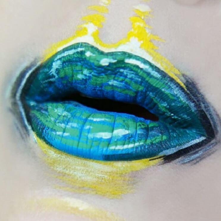 Esta-artista-recrea-obras-de-arte-usando-su-rostro-como-lienzo-10-1