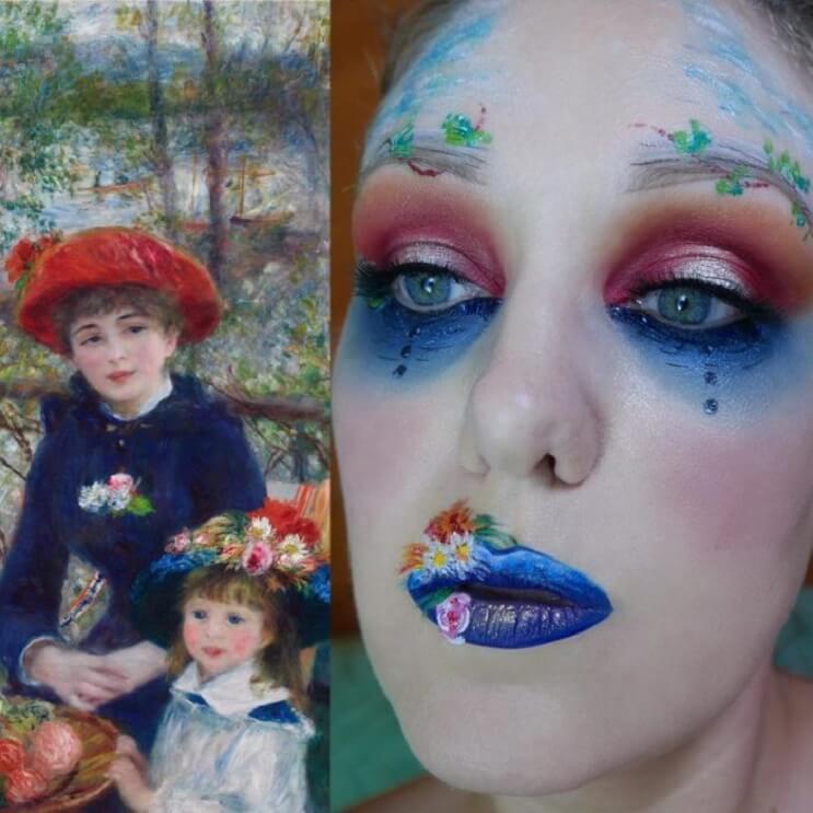 Esta-artista-recrea-obras-de-arte-usando-su-rostro-como-lienzo-11-1