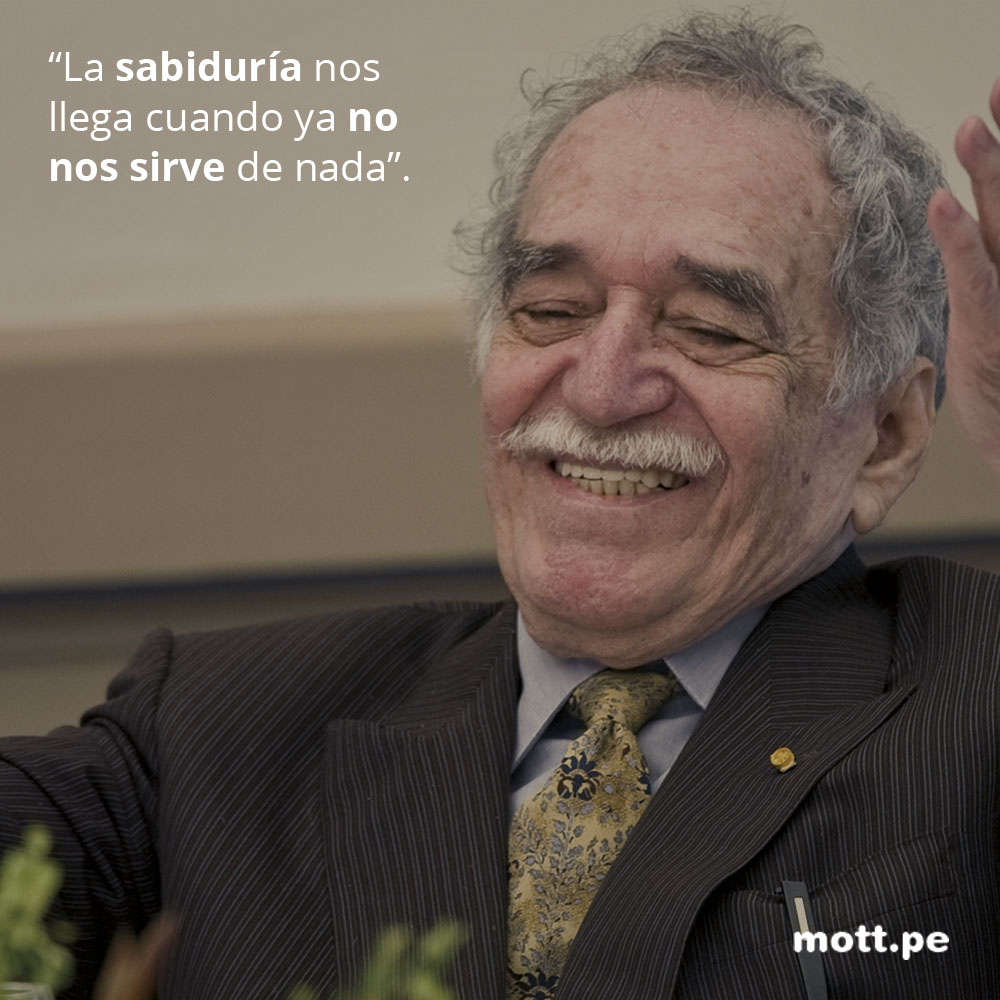 Frases del gran Gabriel García Márquez que nos dejarán pensando 10