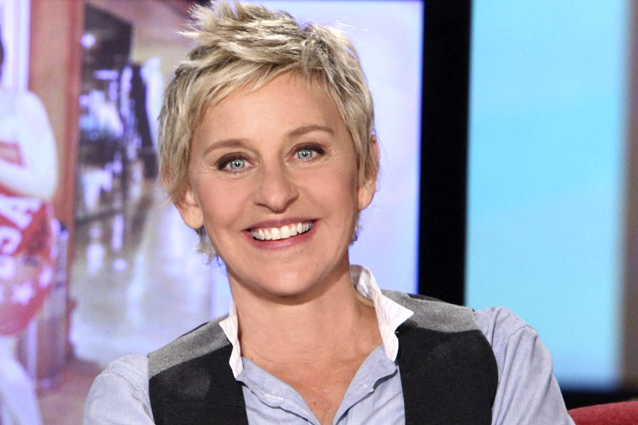 "FILE - In this publicity photo originally released Oct. 21, 2009 by Warner Bros., host Ellen DeGeneres is shown during an  Oct. 15, 2009 taping of the ""The Ellen DeGeneres Show,"" in Burbank, Calif. (AP Photo/Warner Bros., Michael Rozman, file)"
