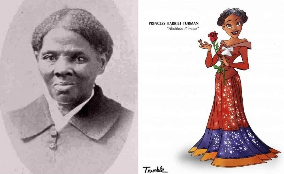Heroínas de la vida real convertidas en princesas de Disney harriet tubman