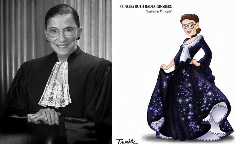 Heroínas de la vida real convertidas en princesas de Disney ruth bader