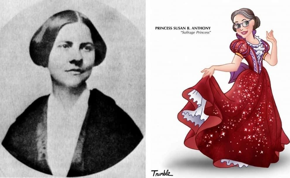 Heroínas de la vida real convertidas en princesas de Disney susan b anthony