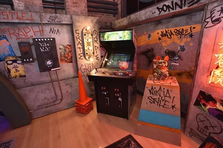 La vivienda de las Tortugas Ninja recreada en este dormitorio en Nueva York 02