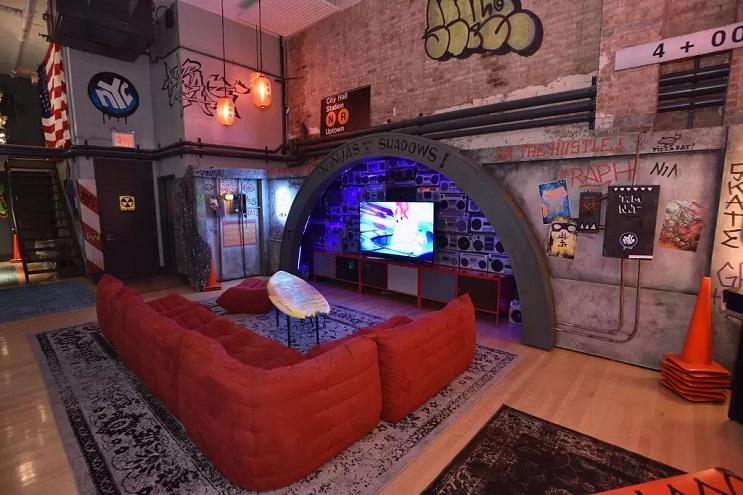 La vivienda de las Tortugas Ninja recreada en este dormitorio en Nueva York 03