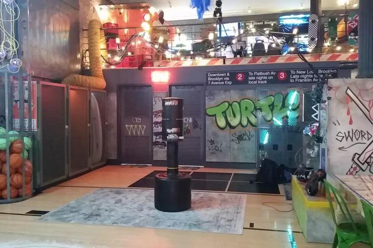 La vivienda de las Tortugas Ninja recreada en este dormitorio en Nueva York 04