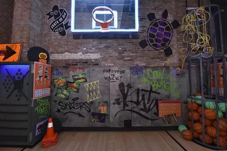 La vivienda de las Tortugas Ninja recreada en este dormitorio en Nueva York 07