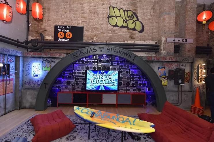 La vivienda de las Tortugas Ninja recreada en este dormitorio en Nueva York 08