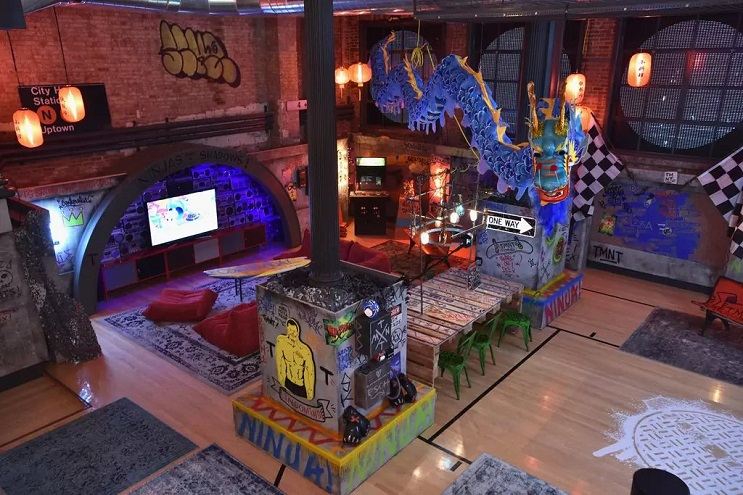 La vivienda de las Tortugas Ninja recreada en este dormitorio en Nueva York 10