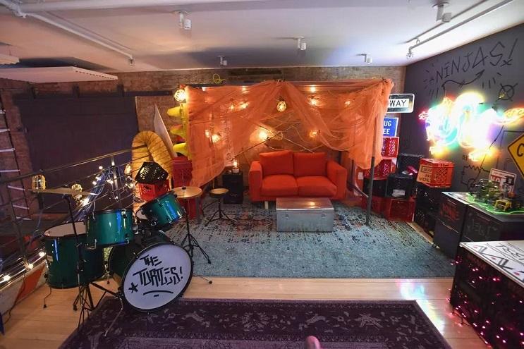 La vivienda de las Tortugas Ninja recreada en este dormitorio en Nueva York 11