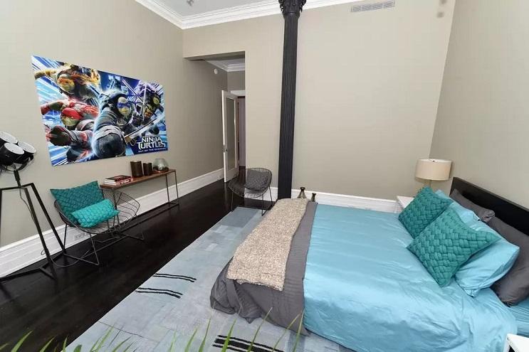 La vivienda de las Tortugas Ninja recreada en este dormitorio en Nueva York 13