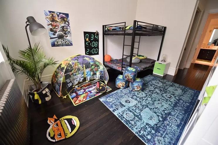 La vivienda de las Tortugas Ninja recreada en este dormitorio en Nueva York 15