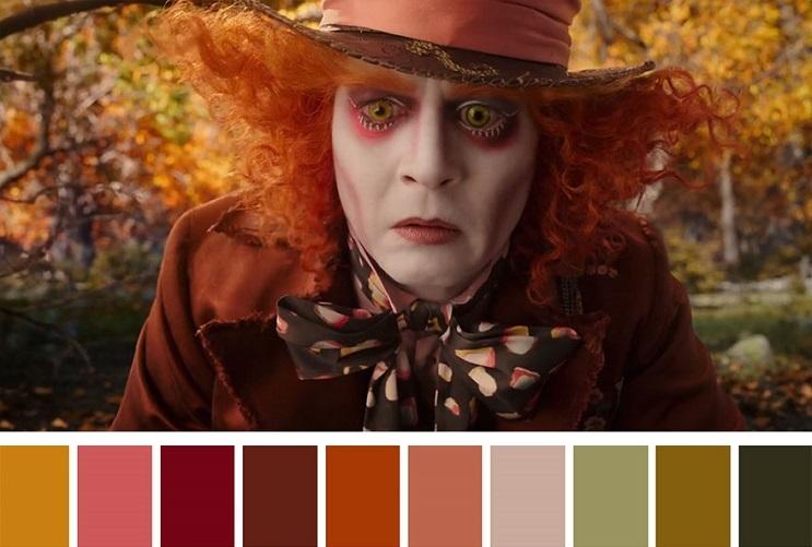 Los colores a partir de conocidas escenas de películas alicia
