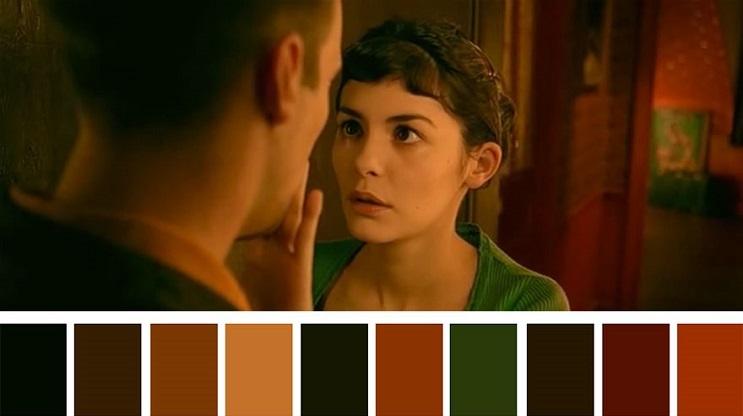 Los colores a partir de conocidas escenas de películas amelié