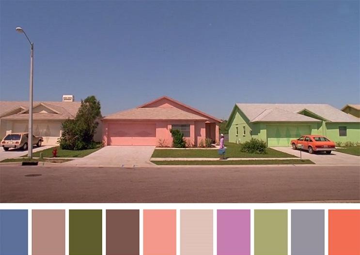 Los colores a partir de conocidas escenas de películas edward scissorhands