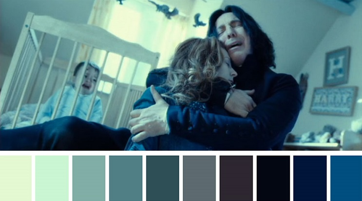 Los colores a partir de conocidas escenas de películas harry potter