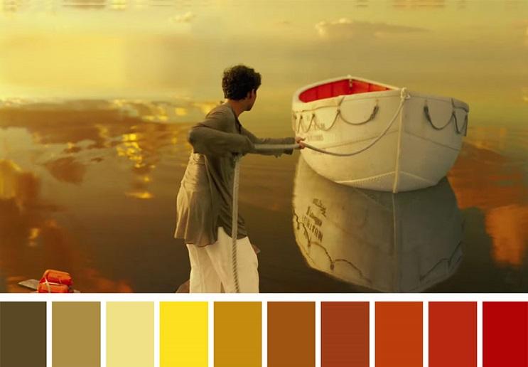 Los colores a partir de conocidas escenas de películas life of pi