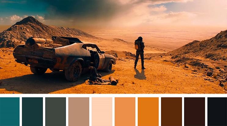 Los colores a partir de conocidas escenas de películas mad max