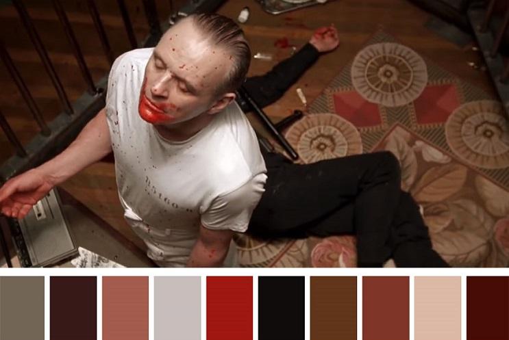 Los colores a partir de conocidas escenas de películas silencio de los inocentes