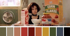 Los colores a partir de conocidas escenas de películas