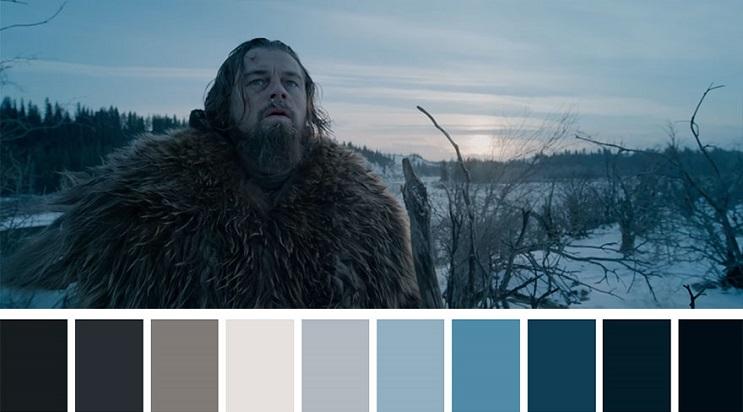 Los colores a partir de conocidas escenas de películas the renevant