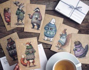 Maravillosos dibujos en lápiz de color que parecen hechos para cuentos