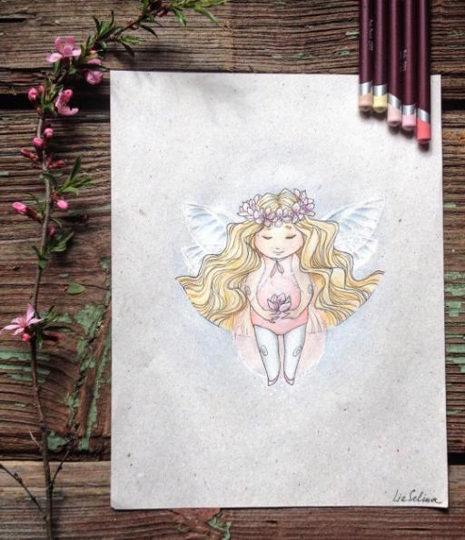 Maravillosos dibujos en lápiz de color que parecen hechos para cuentos 04