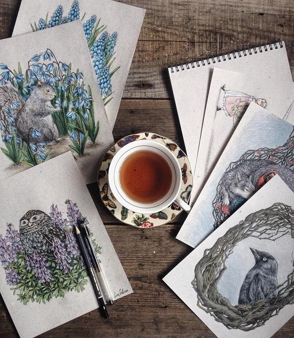 Maravillosos dibujos en lápiz de color que parecen hechos para cuentos 10