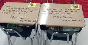 Mira la increíble iniciativa de esta maestra para alentar a sus alumnos en un difícil examen