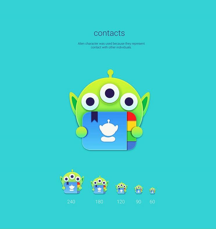 Si los personajes de Toy Story fueran convertidos en aplicaciones contacts