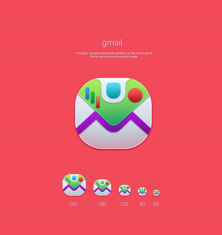 Si los personajes de Toy Story fueran convertidos en aplicaciones gmail