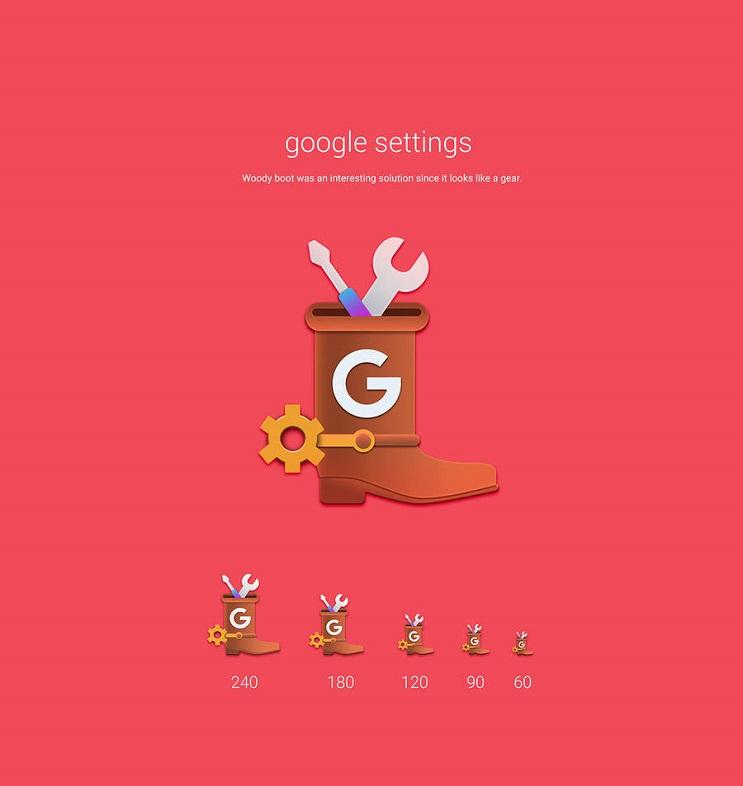 Si los personajes de Toy Story fueran convertidos en aplicaciones google settings