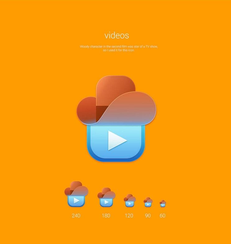 Si los personajes de Toy Story fueran convertidos en aplicaciones videos