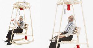¿Una silla mecedora que teja una gorra mientras te meces sobre ella? Existe