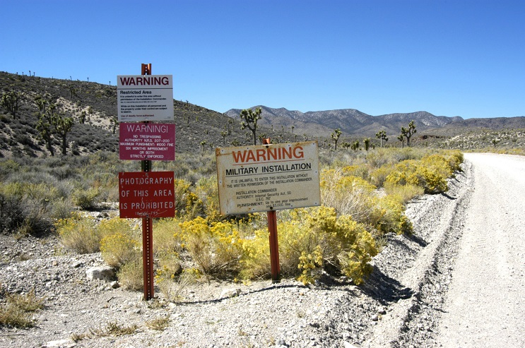 Area 51 (Groom Lake, Dreamland) File Photo near Rachel, Nevada (Photo by Barry King/WireImage)