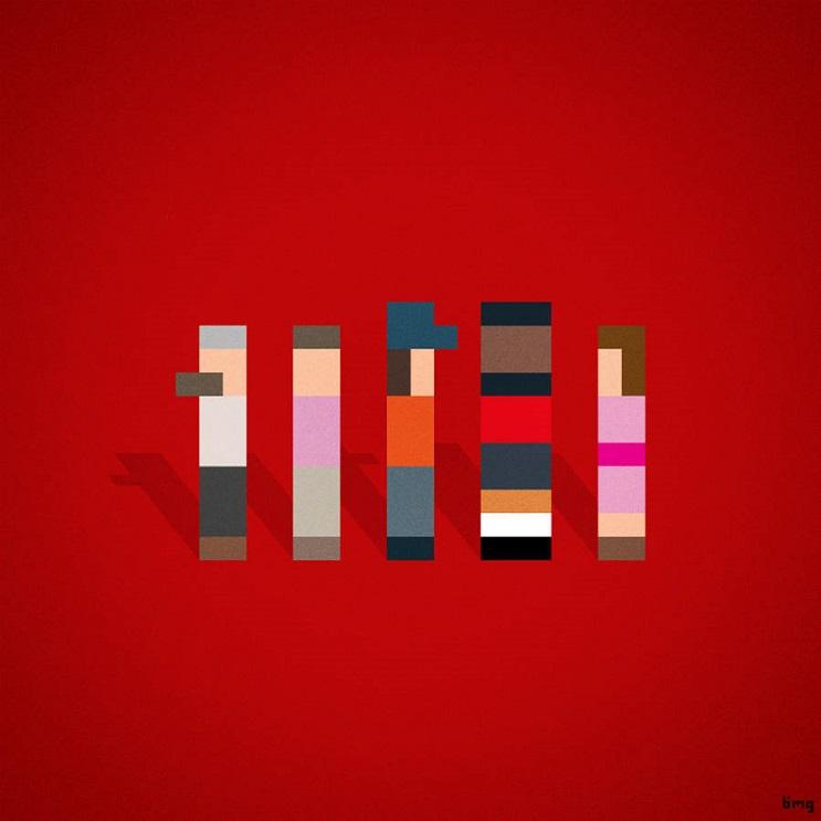 Adivinan quiénes son los personajes de estas ilustraciones minimalistas los magníficos