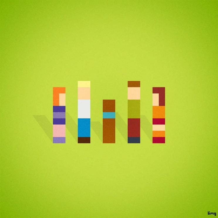 Adivinan quiénes son los personajes de estas ilustraciones minimalistas scooby doo