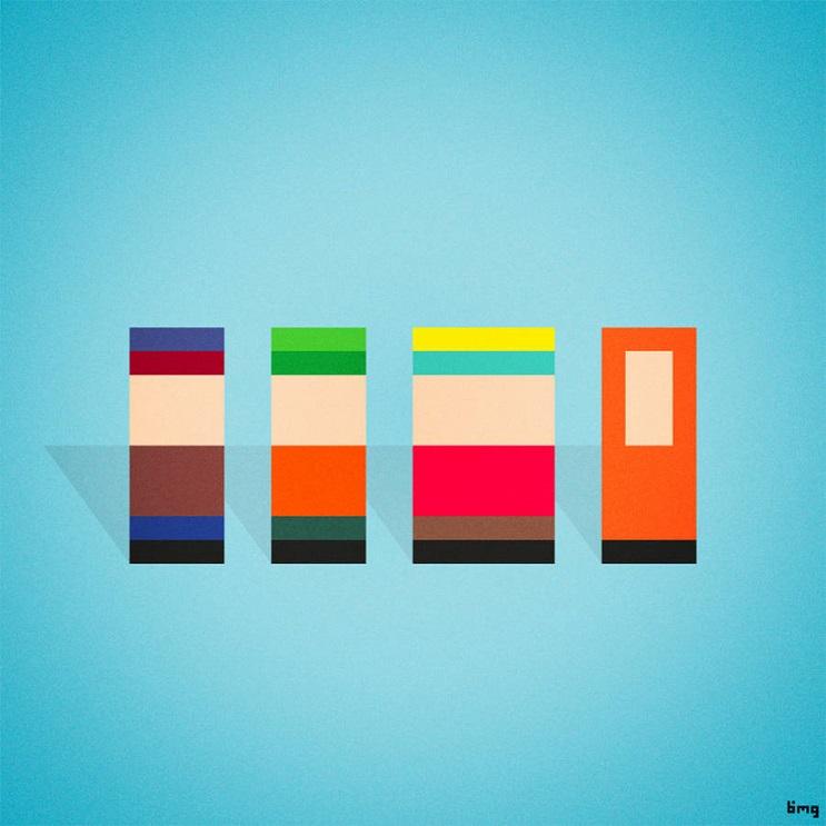 Adivinan quiénes son los personajes de estas ilustraciones minimalistas south park