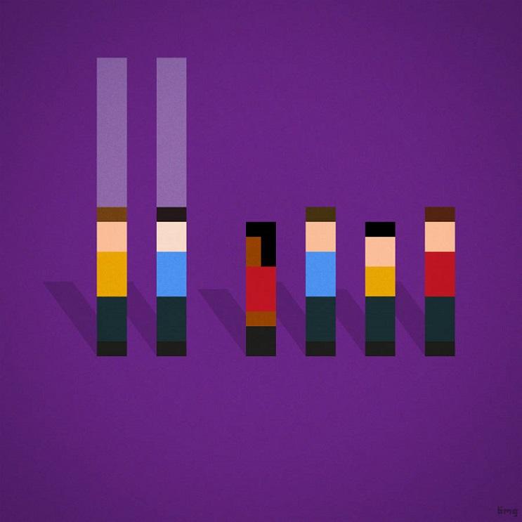 Adivinan quiénes son los personajes de estas ilustraciones minimalistas star trek